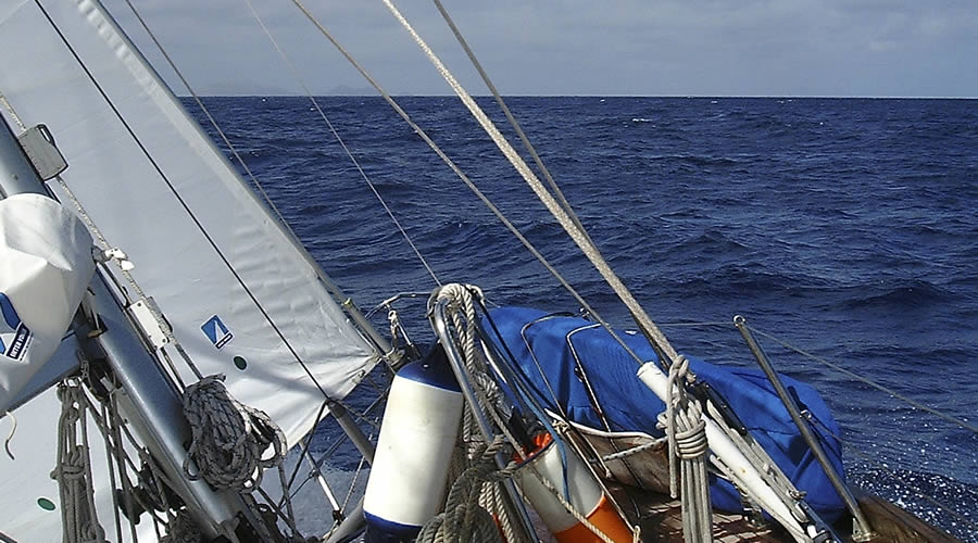 sailing action to Lanzarote